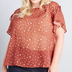 NWT Modcloth Flowing Along Woven Top